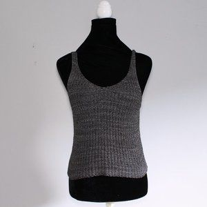 $5 8 Red Butterflies Grey Chunky Knit Tank Top S